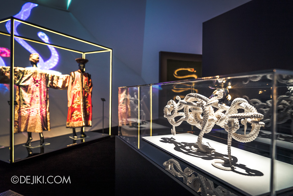 Bulgari SERPENTIform exhibition at ArtScience Museum - sculptural serpents