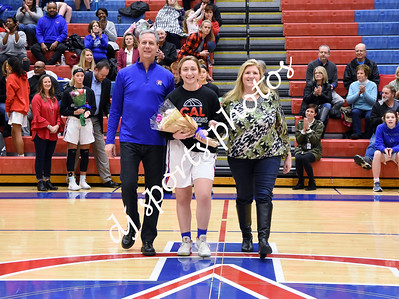 2019-02-08 CAL Girls Basketball Senior Night