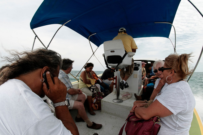 The San Pedro to Caye Caulker water taxi. Caye Caulker is a 15-20 minute boat ride from San Pedro.