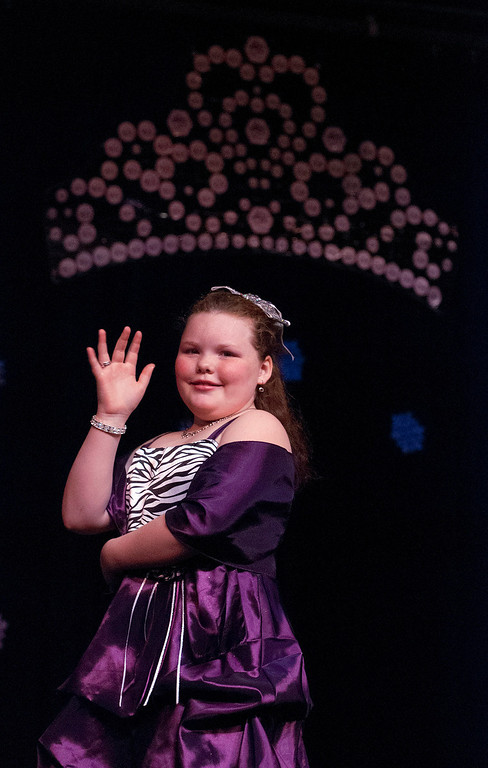 . Kayla Rice/Reformer A princess pageant contestant is introduced during the 2014 Brattleboro Winter Carnival Queen\'s Pageant on Friday evening.