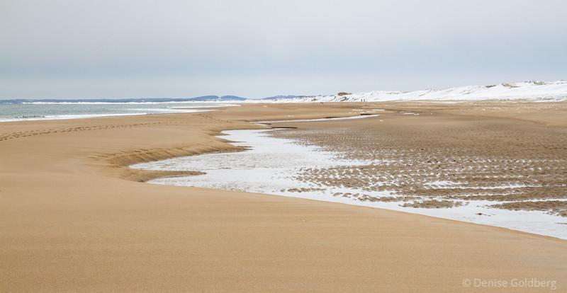 sand, water, snow... at Parker River National Wildlife Refuge