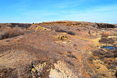 Buffalo Track, Horse thief, & Red Rock Canyons, Kansas.