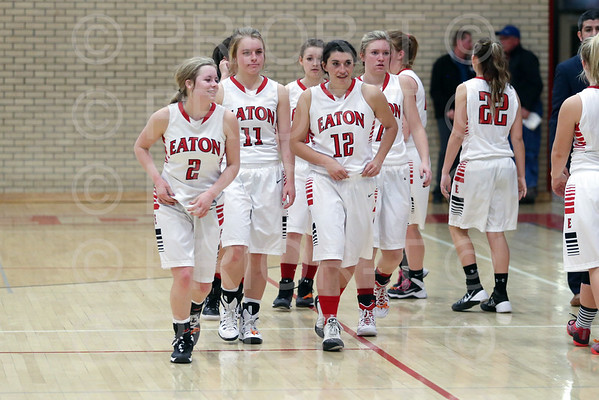2/10/15 Eaton Varsity Girls Basketball vs Platte Valley