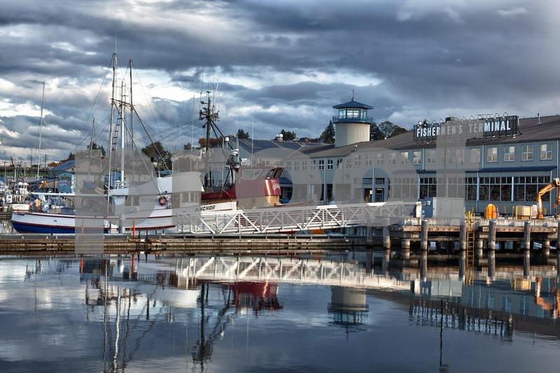 Seattle, Fishermen's Terminal, salmon fishing
