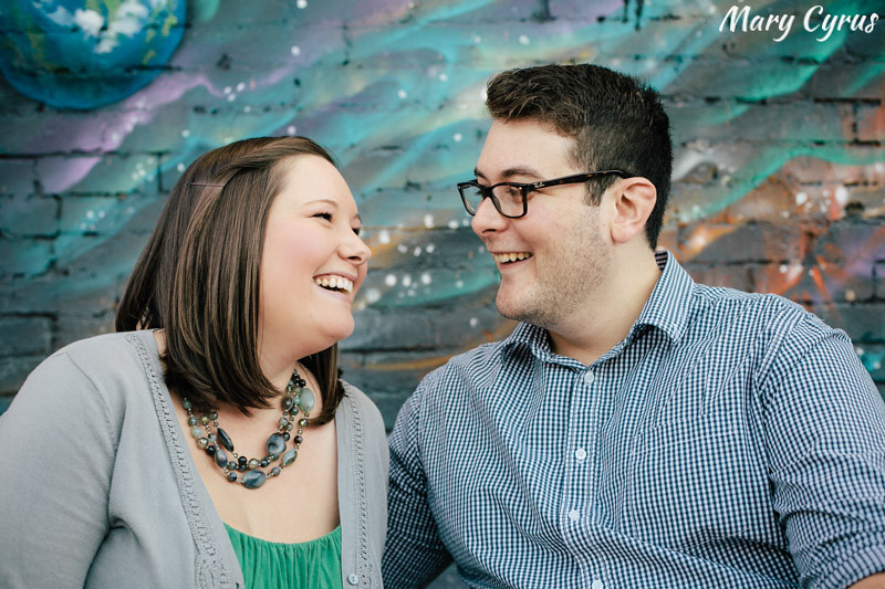 Bryan & Tara's engagement portrait session in Deep Ellum | ©Mary Cyrus Photography - Portraits & Weddings in Dallas & Beyond