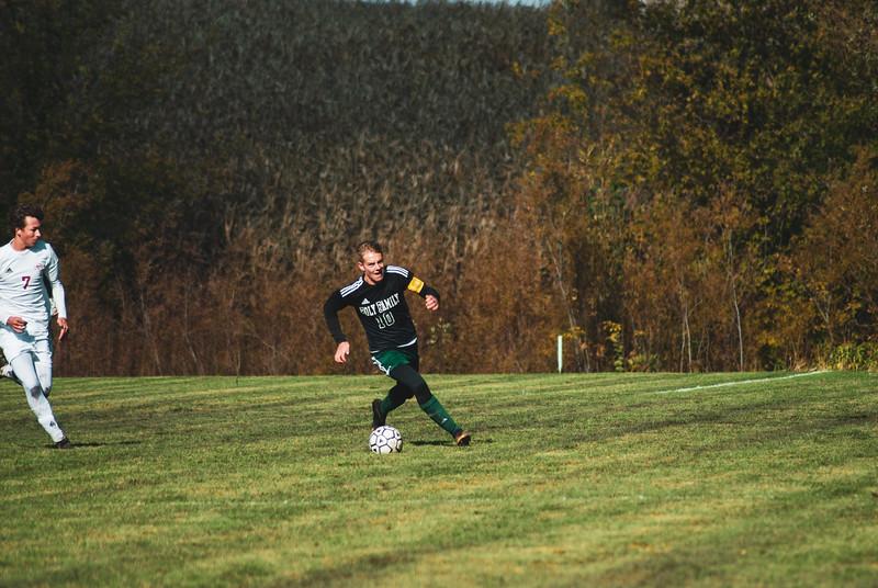 Holy Family Varsity Soccer vs. Mound Westonka Oct 13, 2018: Luke Puklich '19 (10)