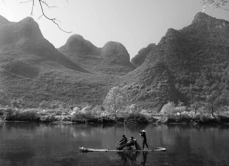 Bamboo boat, Li River, Yangshuo, China