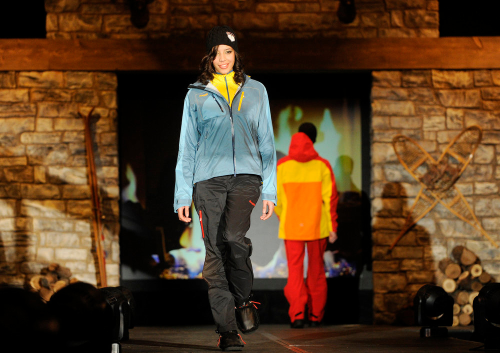 Description of . Fischer Alpine Apparel, as the SIA Snow Show hosted its 2013 Snow Fashion & Trends Show at the Colorado Convention Center  in downtown Denver  on Wednesday, January 30, 2013.  (Photo By Cyrus McCrimmon / The Denver Post)