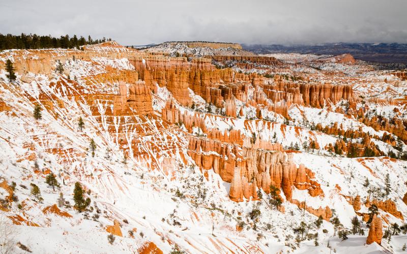 Zasněžený Bryce Canyon