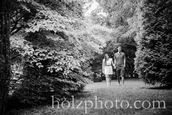 Chelsea & Taylor B/W Engagement Photos