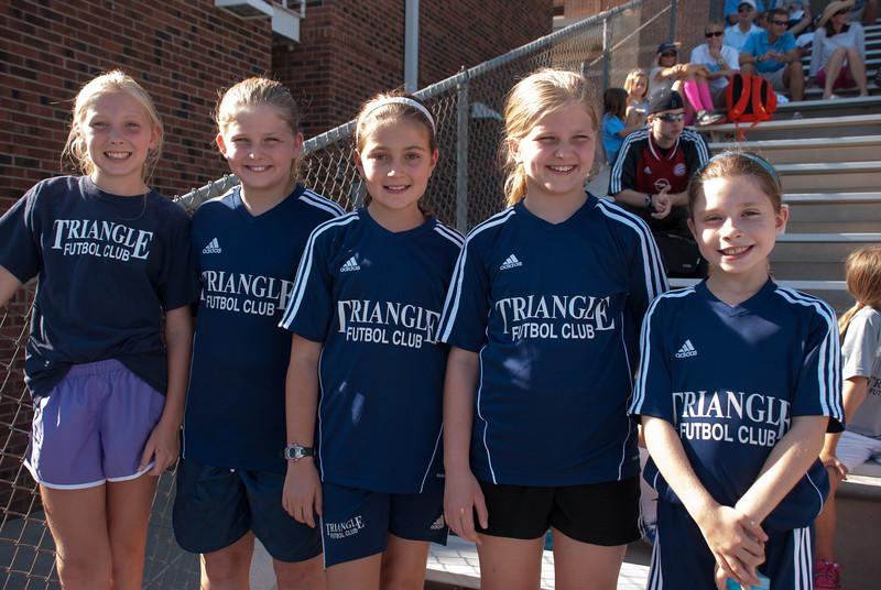 Ball Girls at UNC Women's Soccer 2013-08-30