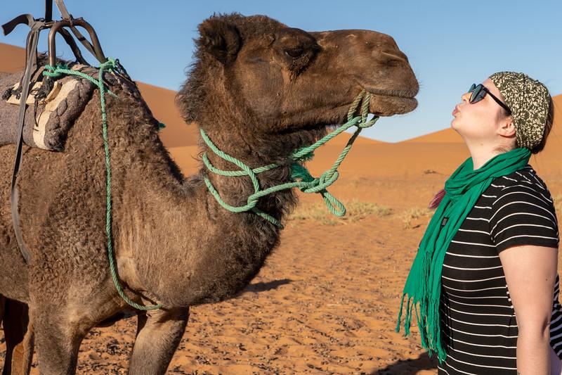 Amanda and a camel