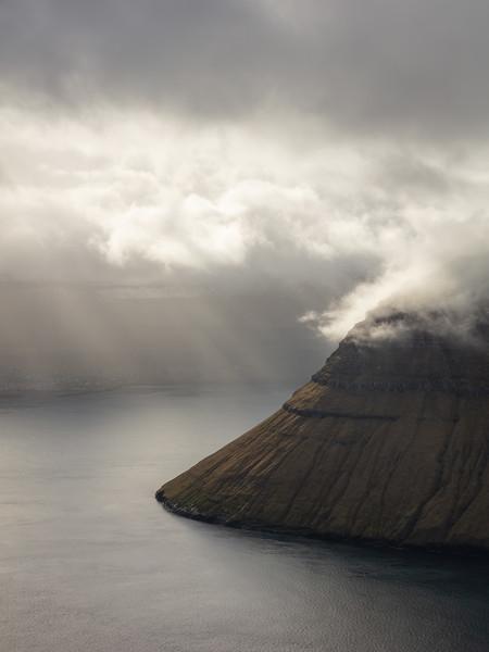 Klakkur vertical view towards Kalsoy landscape photography Faroe Islands.jpg