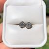1.70ctw Old European Cut Diamond Clover Stud Earrings, GIA H-I SI 14