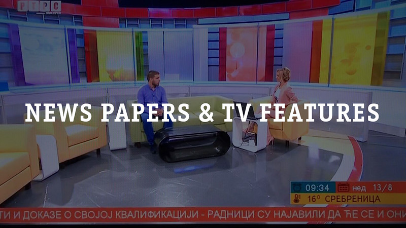 News Papers and TV Features