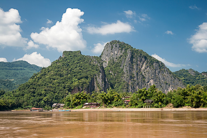 Mekong River At Pak Ou Caves, Laos