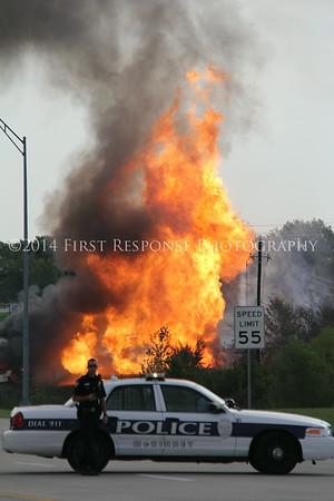 Gas line explosion. McKinney , TX.