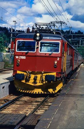 1994: Norwegen mit dem Zug
