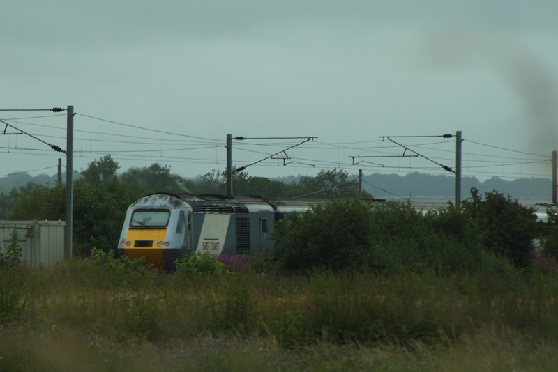 43306 at the rear of an East Coast service heading North at Beal LC