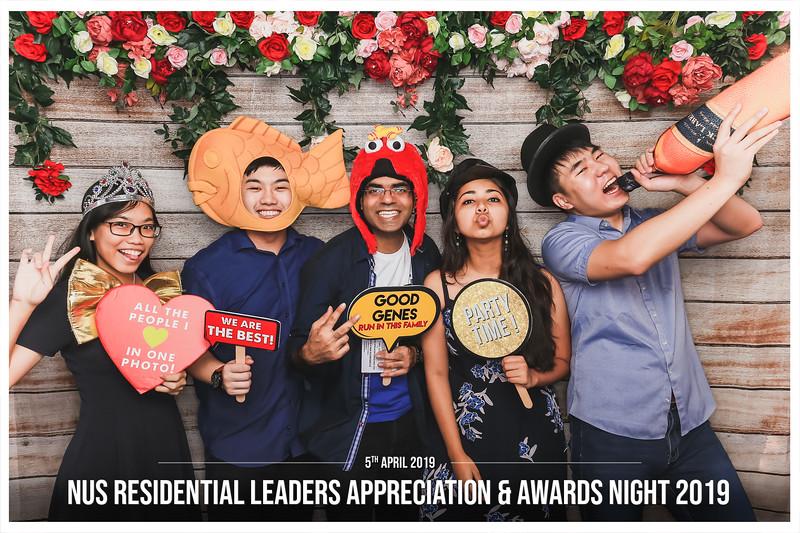 NUS Residential Leaders Appreciation & Awards Night 2019   © www.SRSLYPhotobooth.sg