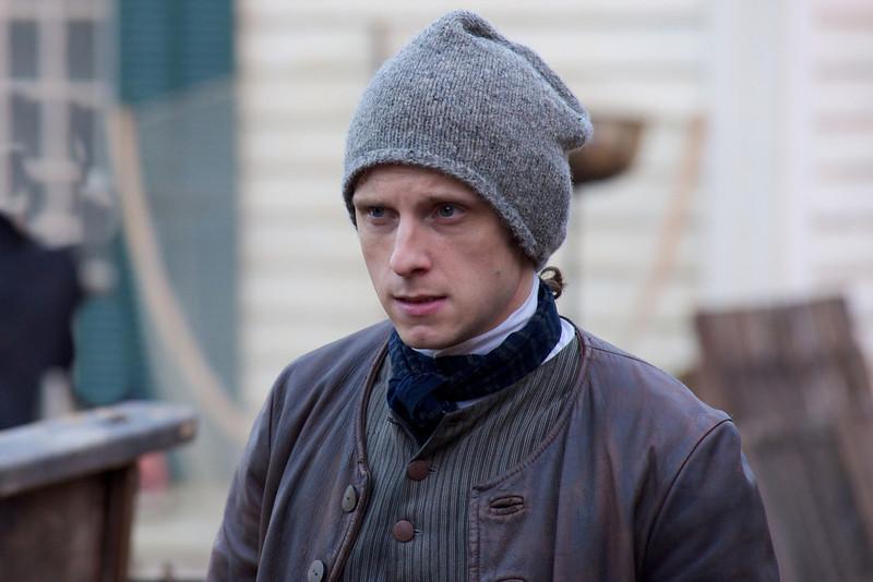 ". Jamie Bell as Abe Woodhull in \""Turn\"" Season 1, Episode 2 (Photo by Antony Platt/AMC)"