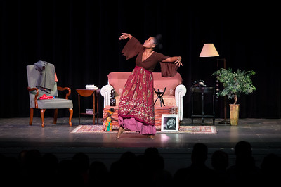 Ayanna Gregory performs in Bingham Auditorium