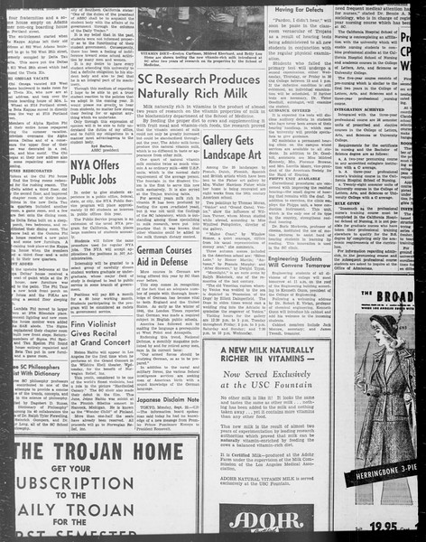 Daily Trojan, Vol. 33, No. 13, September 20, 1941
