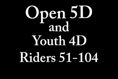 Open 5D and Youth 4D 'Riders 51-104'