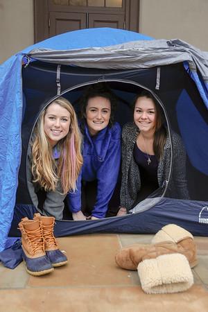 Wilderness_Bike Trip Tent SetUp