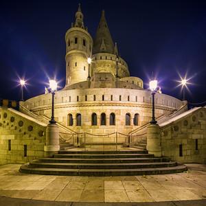 Fishermans Bastion Budapest (night)