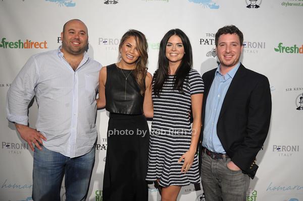 Jordan Elkin, Chrissy Teigen, Katie Lee, Brian McGovern, photo by Rob Rich/SocietyAllure.com © 2014 robwayne1@aol.com 516-676-3939