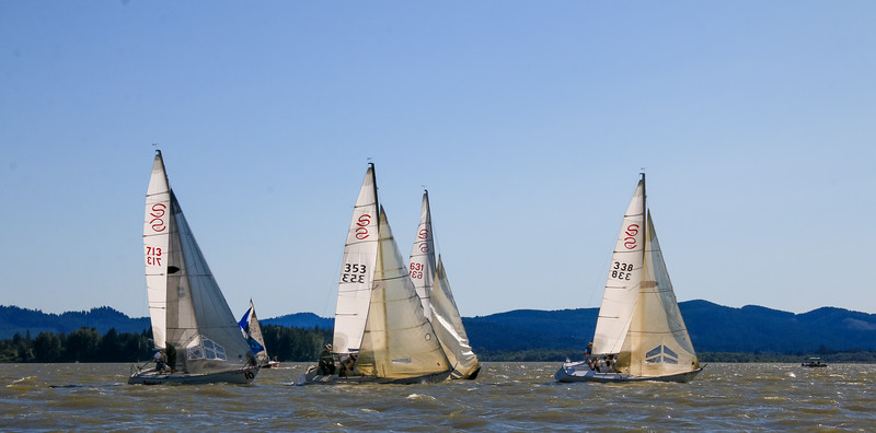 Santana 20s racing in the class championship practice race
