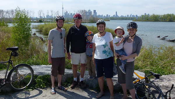 """Bicycle ride on """"The Spit"""" in Toronto"""
