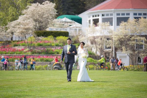 Adriana + Tadd Mission Point Resort Wedding Mackinac Island