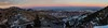Denver, CO Panorama at Sunset