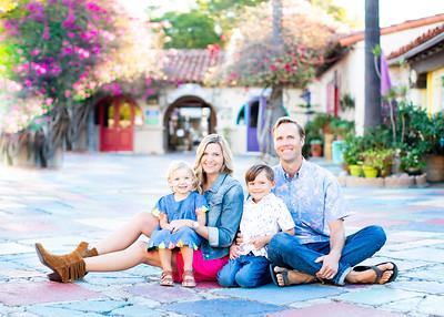 Spanish Art Village at Balboa Park - colorful San Diego Family Photographs -