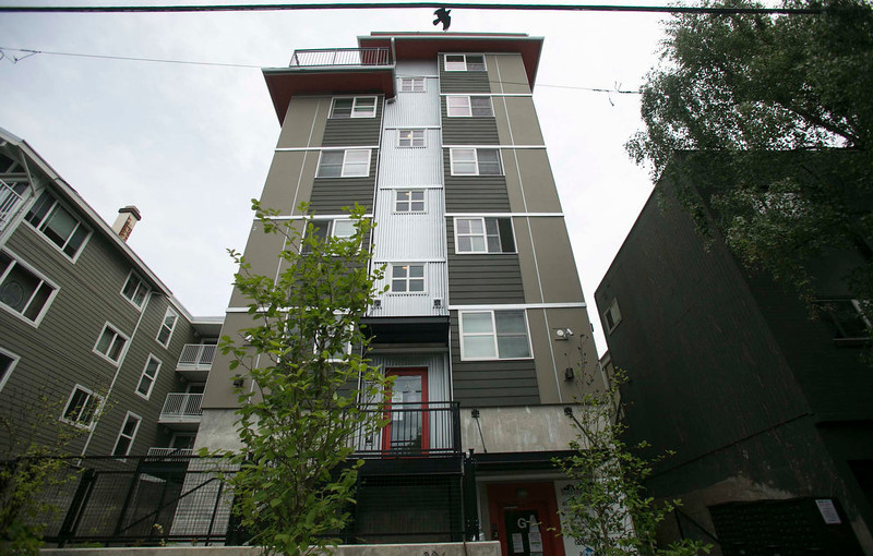 . The Alturra aPodment is seen in the Capital Hill neighborhood in Seattle, Washington May 12, 2013. The six-story building has 55 walk up apartments and rent starts at $600 per month.    REUTERS/Nick Adams