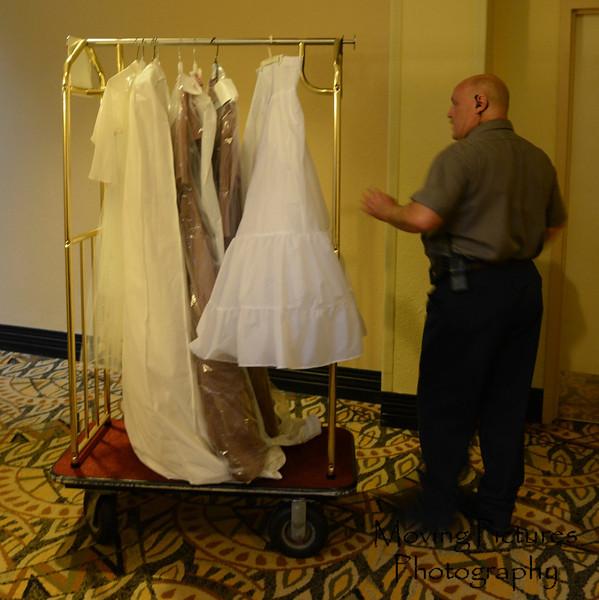The rack of dresses