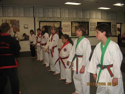 February 28, 2009 Red Belt Testing