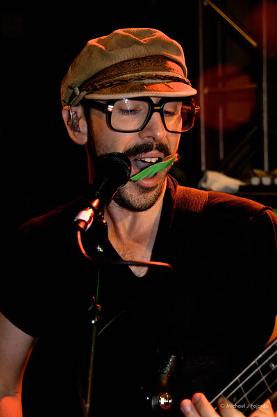 Tim Nordwind of OK Go - Faked the green stache 93.3 KTCL 2011 Keggs and Eggs St. Patrick's Day Lodo's Bar and Grill Denver, CO  March 17, 2011