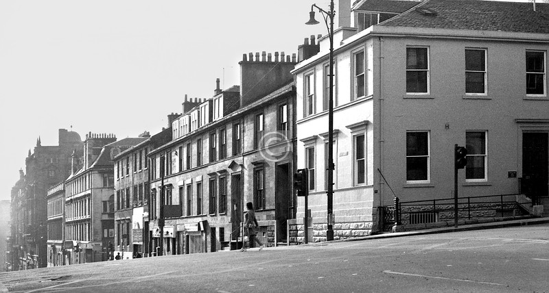 Hope St, west side south from Bath St. Little changed.     October 1973