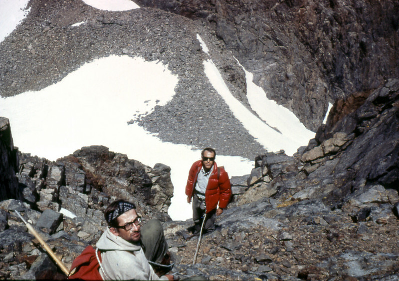 Bannerclimb_06.  Climbing Banner peak with Marvin Klein and Dick Fork.