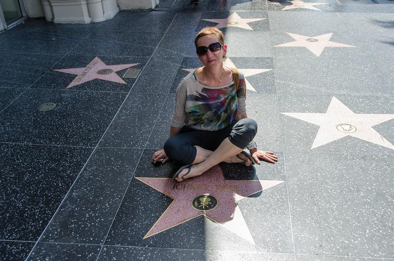 Лариса и Джонни Депп в виде звезды