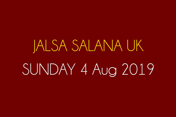 Jalsa - Sunday 4th