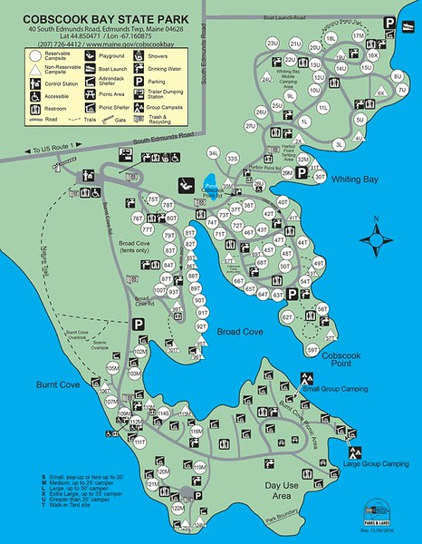 Cobscook Bay State Park (Campground Map)
