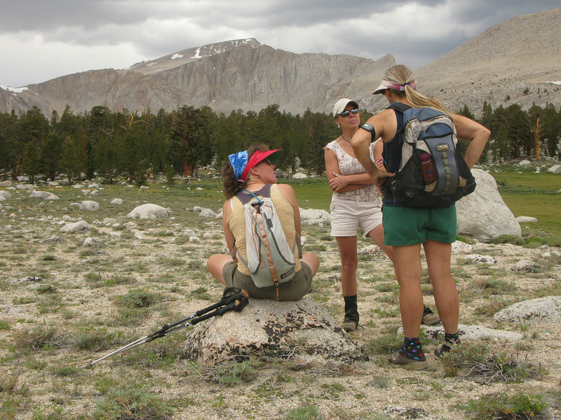 this is our destination for today - overlooking Cottonwood Lake #2