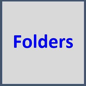 - - - - - - FOLDERS - - - - - -
