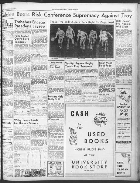 Daily Trojan, Vol. 30, No. 76, January 27, 1939