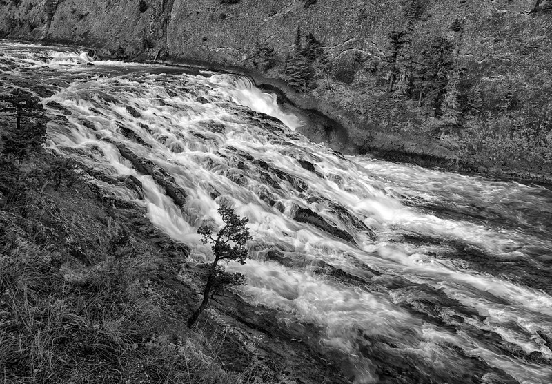 Bow Falls in Black & White