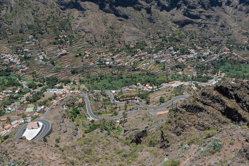 View of La Gomera from the mountain - Canary Islands, Spain